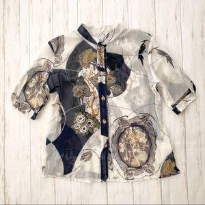69ea2253027 Citron Santa Monica. Citron Santa Monica Silk Button Down Kimono Shirt